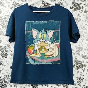 Tom & Jerry graphic short sleeve tee 100% cotton M